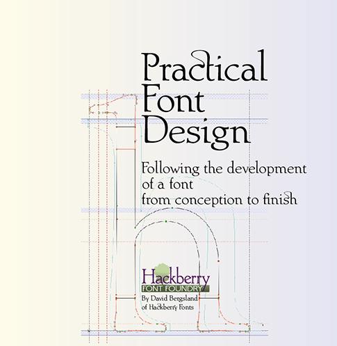 A New Book Release Practical Font Design Fontlab 4 6