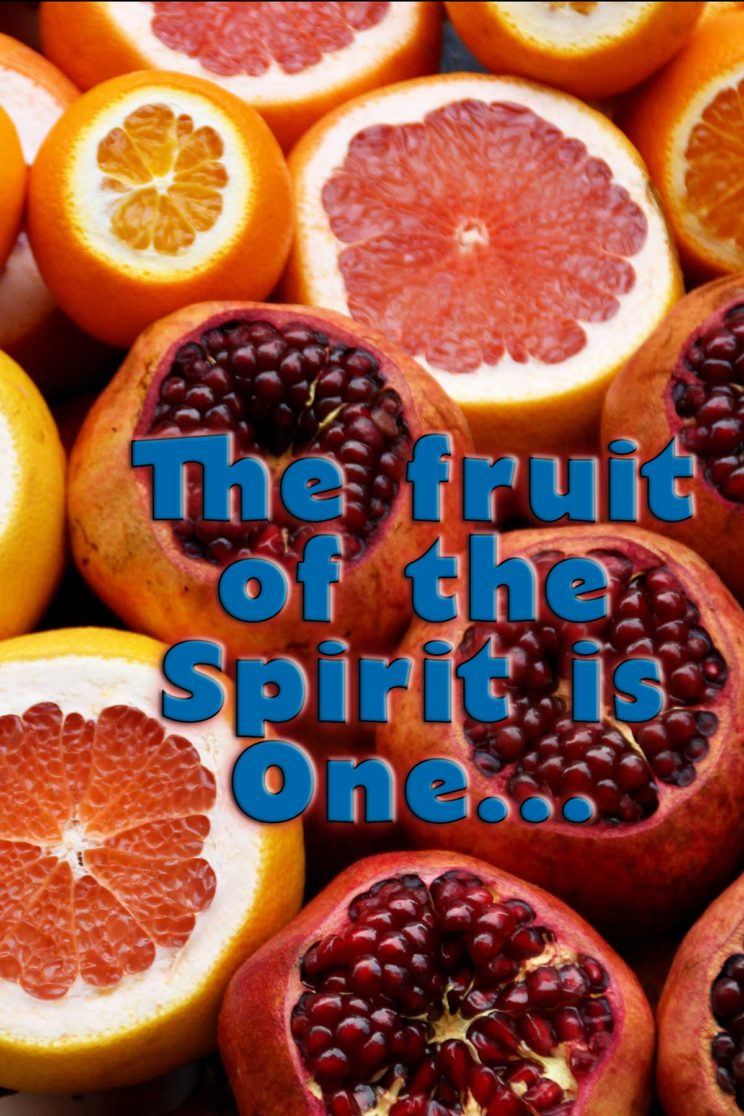 The fruit of the Spirit is one...