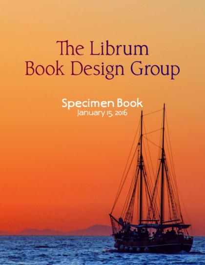 Librum Book Design Specimen Booklet